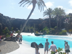 A pool fit for a king in volcanic caves