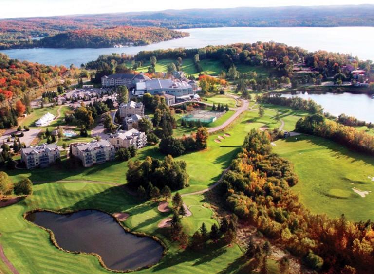 Deerhurst Resort arial view in the fall