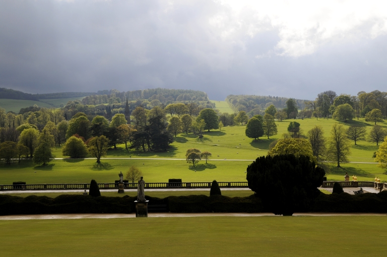 Chatsworth Park from the Garden (c. Matthew Bullen)