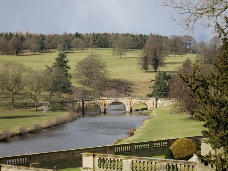 Paine's Bridge over the River Derwent from the Garden (c. Matthew Bullen)