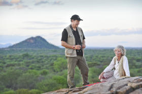 Will and Virginia at George's Pool in Meru © Land Rover